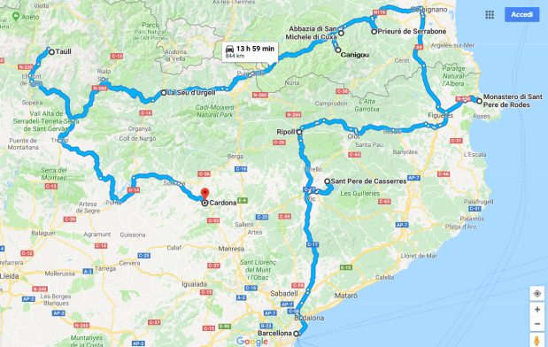 Catalogna Itinerario