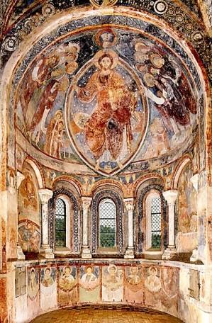 Chapelle des moines de Berzé-la-Ville, peintures murales dans l'abside