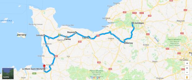 NormandiaItinerario1